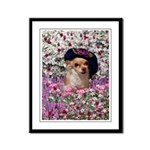 Chi Chi Chihuahua Flowers Framed Panel Print