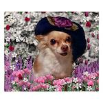 Chi Chi Chihuahua Flowers King Duvet