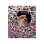 Chi Chi Chihuahua Flowers Throw Blanket