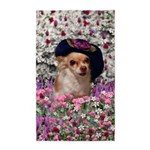 Chi Chi Chihuahua Flowers 3'x5' Area Rug
