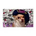 Chi Chi Chihuahua Flowers 35x21 Wall Decal