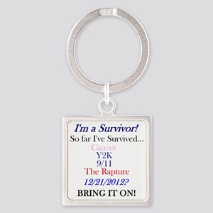 survivorcancer Square Keychain