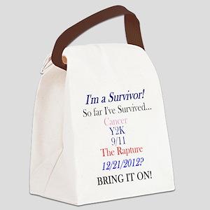 survivorcancer Canvas Lunch Bag