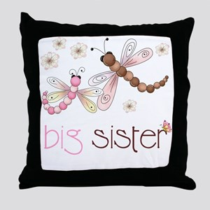 big sister drgonfly 2 Throw Pillow