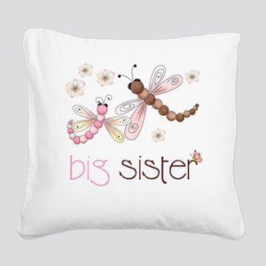 big sister drgonfly 2 Square Canvas Pillow