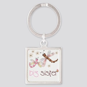 big sister drgonfly 2 Square Keychain