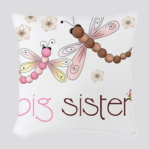 big sister drgonfly 2 Woven Throw Pillow