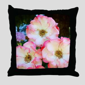 A Rose Pink 17M Roses Rose Garden whi Throw Pillow
