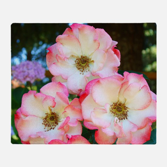 A Rose Pink 17M Roses Rose Garden wh Throw Blanket