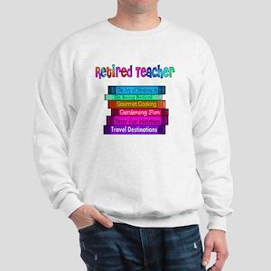 Retired Teacher Book Stack 2011 Sweatshirt