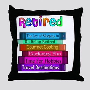 Retired BOOK STACK Throw Pillow