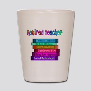 Retired Teacher Book Stack 2011 Shot Glass