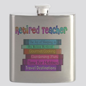 Retired Teacher Book Stack 2011 Flask