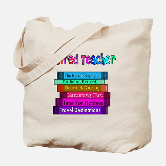 Retired Teacher Book Stack 2011 Tote Bag