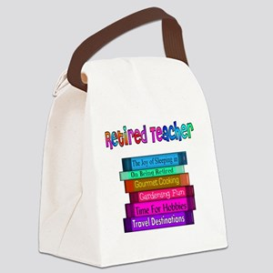 Retired Teacher Book Stack 2011 Canvas Lunch Bag