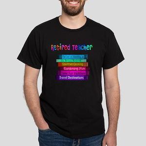 Retired Teacher Book Stack 2011 Dark T-Shirt