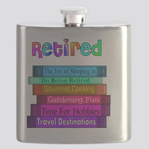 Retired BOOK STACK Flask