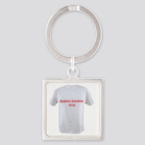 T-Shirt-Rapture-50-small Square Keychain