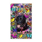 Abby Black Lab Butterflies 20x12 Wall Decal