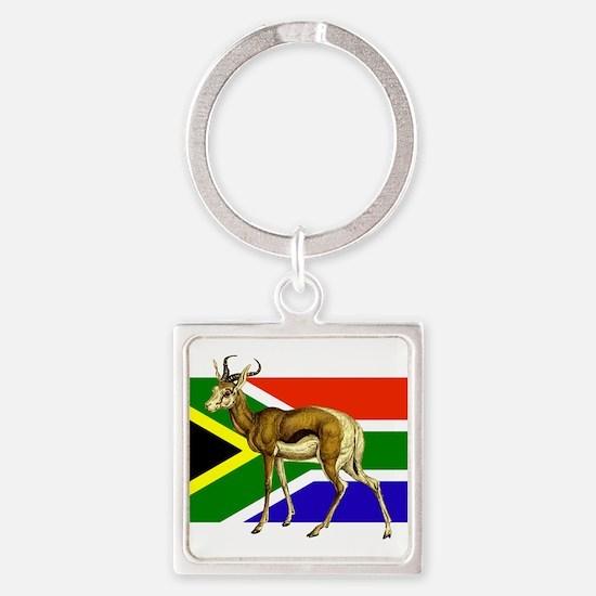 South Africa Springbok Flag Keychains