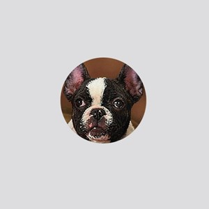 Boston Terrier Mini Button