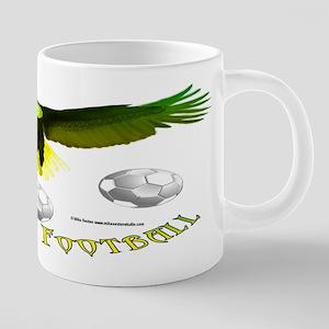 Brazil Soccer Eagle 20 oz Ceramic Mega Mug