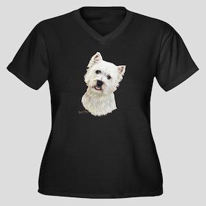 West Highland White Terrier Women's Plus Size V-Ne