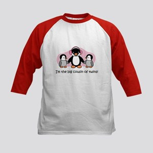 Big Cousin of Twins (Penguin) Kids Baseball Jersey