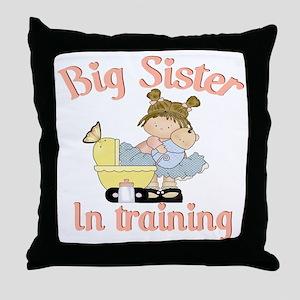 big sister training Throw Pillow