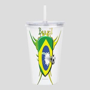 Brazil Soccer Breakthrough Acrylic Double-wall Tum