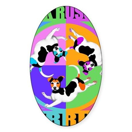 Jack Russell Terrier Graphic Sticker (Oval)