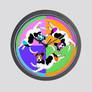 Jack Russell Terrier Graphic Wall Clock