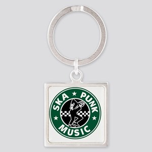 SKA PUNK MUSIC Square Keychain