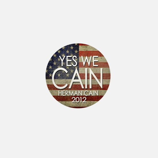 yes we cain Mini Button