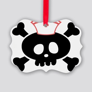 lolly-rn-blk-T Picture Ornament