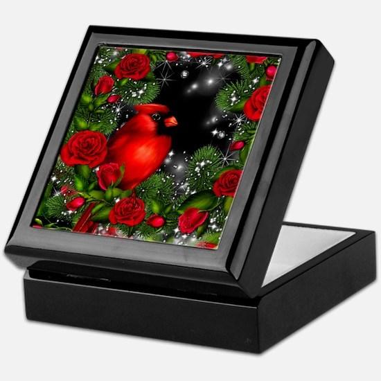 SPARKLING CARDINAL Keepsake Box