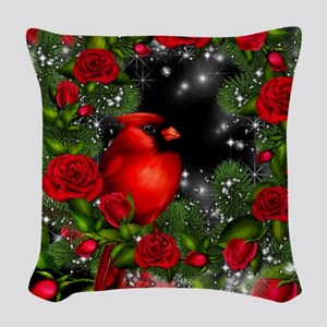 SPARKLING CARDINAL Woven Throw Pillow