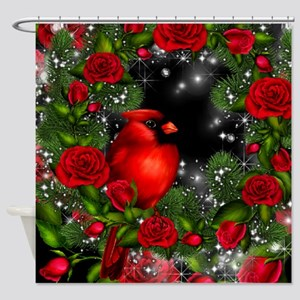 SPARKLING CARDINAL Shower Curtain