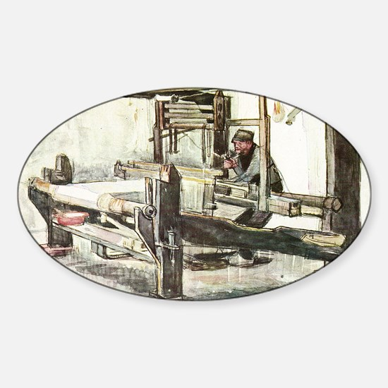 Van Gogh The Weaver Sticker (Oval)
