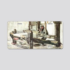 Van Gogh The Weaver Aluminum License Plate