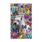 Violet White Westie Butterflies 20x12 Wall Decal