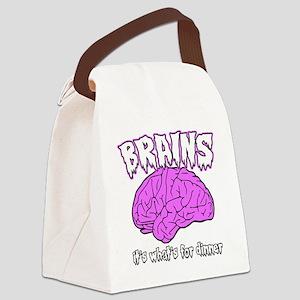 brains Canvas Lunch Bag