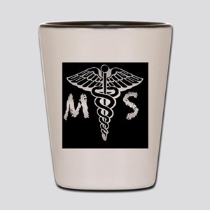 MortSciCircle2 Shot Glass