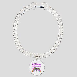 TALENTED GYMNAST Charm Bracelet, One Charm