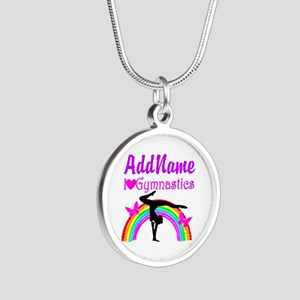 TALENTED GYMNAST Silver Round Necklace