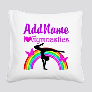 TALENTED GYMNAST Square Canvas Pillow