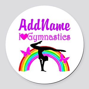 TALENTED GYMNAST Round Car Magnet