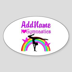 TALENTED GYMNAST Sticker (Oval)