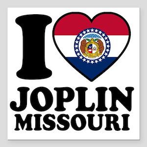 "Joplin Flag Square Car Magnet 3"" x 3"""