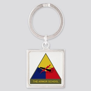 The Armor School Square Keychain